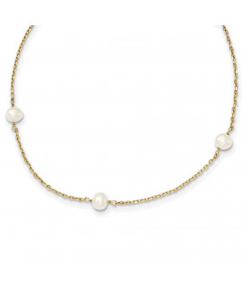 14K 4-4.5mm FW Cultured Pearl Necklace