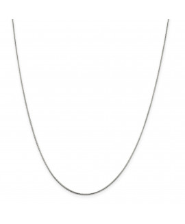 Sterling Silver Rhodium-plated .8mm Rd Snake Chain w/2in ext