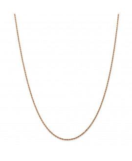 14k Rose Gold 1.5mm D/C Rope Chain