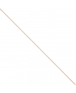 14k Rose 1mm Gold Box Link Chain