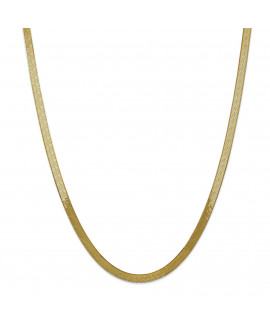 14k 5.0mm Silky Herringbone Chain