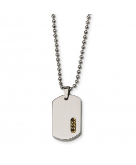 Stainless Steel Yellow IP-plated Necklace