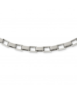 Stainless Steel Link 22in Necklace