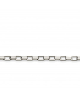 Stainless Steel 4.8mm 22in Square Link Chain