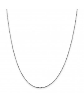 14k White Gold 1.2mm Twisted Box Chain