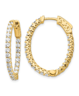 14k Oval Hoop w/Safety Clasp Earring Mountings