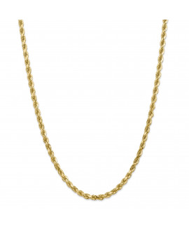 14k 5mm Diamond Cut Rope with Lobster Clasp Chain