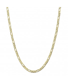 10k 4.5mm Light Concave Figaro Chain