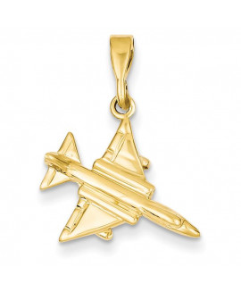 14k 3-D Fighter Jet Pendant
