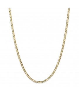 14k 3.8mm Open Concave Curb Chain