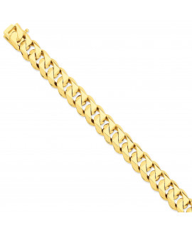 14k 14mm Hand-Polished Traditional Link Chain