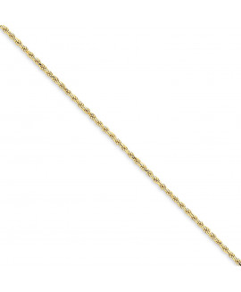 14k 1.6mm Solid Diamond-cut Machine-Made with Lobster Rope Chain