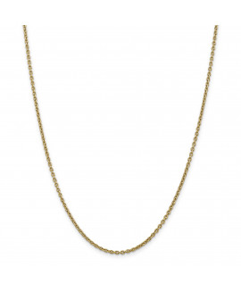 14k 2.2mm Solid Polished Cable Chain Anklet