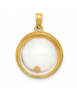 14k Mustard Seed Domed If Ye Have Faith Pendant