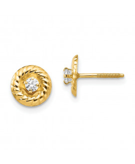 14k Madi K 2.5mm CZ Post Earrings