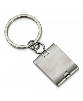 Stainless Steel Brushed and Polished Key Chain