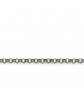 Stainless Steel 3.90mm 24in Rolo Chain