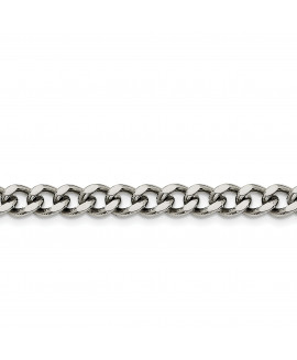 Stainless Steel 7.5mm 8in Curb Chain
