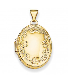 14k Hand Engraved Locket