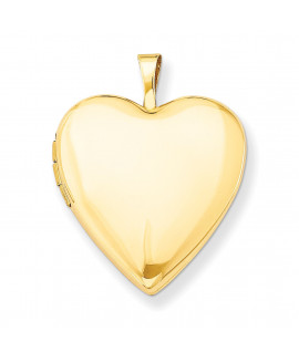 14K 20mm Plain Polished Heart Locket