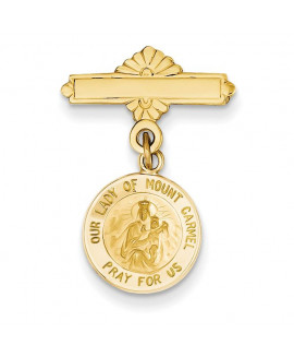 14k Our Lady of Mount Carmel Medal Pin