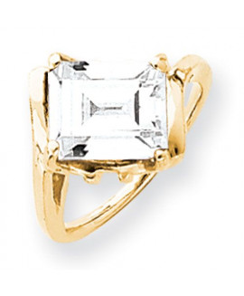 14k 10x8mm Emerald Cut Cubic Zirconia ring