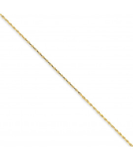 14k 1.15mm Machine-made Rope Chain Anklet