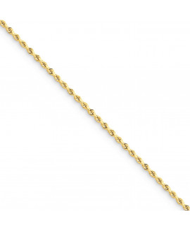 14k 1.75mm D/C Rope Chain Anklet