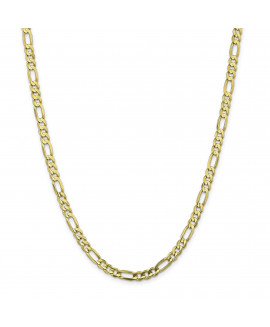 10k 5mm Light Concave Figaro Chain