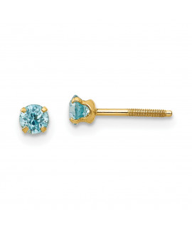 14k Madi K 3mm Blue Zircon Earrings
