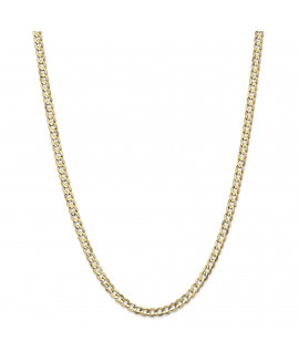 14k 4.5mm Open Concave Curb Chain