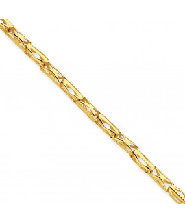 14k 3mm Cut-out Barrel Link Fancy Necklace