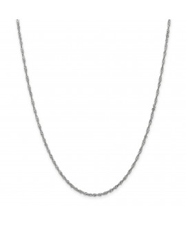 14k WG 1.9mm Singapore Chain