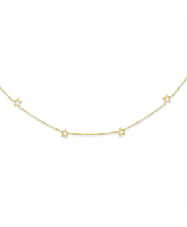 14K Star w/2in Extension Necklace