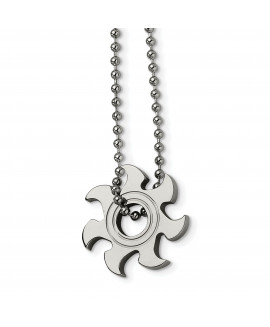 Stainless Steel Sun Burst Necklace