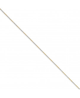White & Yellow Rhodium over Brass 1.60mm 2 color plated Fancy Chain