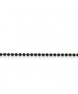 Stainless Steel 2.0mm IP Black-plated 18in Ball Chain