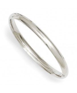 14k 3/16 White Gold Hinged Baby Bangle Bracelet