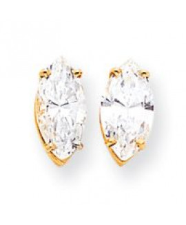 14k 12x6 Marquise Earring Mountings