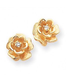 14k Fancy Diamond Flower Earring Mountings