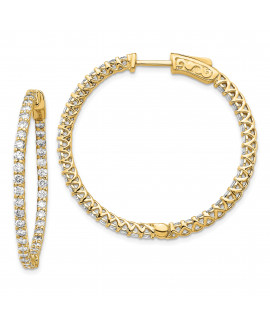 14k Round Hoop w/Safety Clasp Earring Mountings