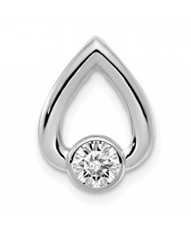 14k White Gold Diamond Slide Mtg