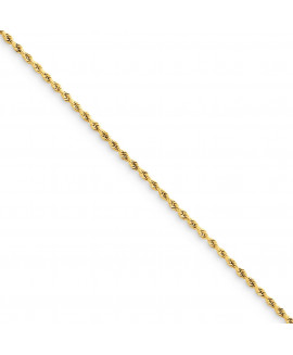 14k 1.50mm Diamond Cut Rope Anklet