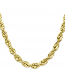 10k 10mm Handmade Diamond-cut Rope Chain