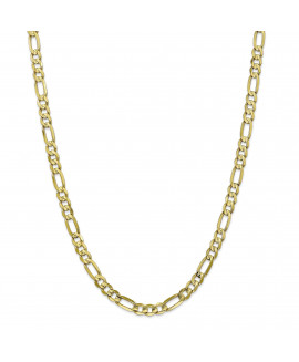 10k 6mm Light Concave Figaro Chain