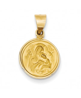 18k Our Lady of Perpetual Help Medal Pendant