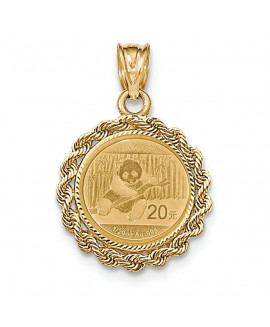 14k 1/20oz Mounted Panda Coin Rope Bezel