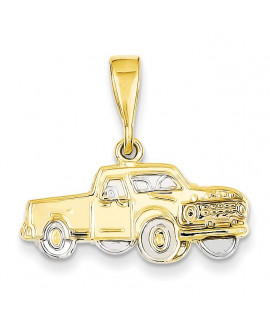 14k & Rhodium Pick-up Truck Pendant