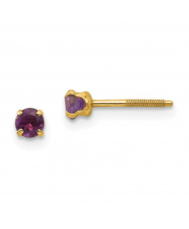 14k Madi K 3mm Amethyst Earrings