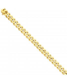14k 10mm Hand-polished Link Chain